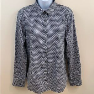 Lands' End No Iron Supima Button Up Shirt  Size 10